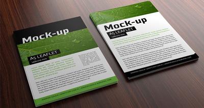 Leaflet printing image